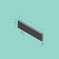 Flachstahlmesser -nur Obermesser- 420 x70/52x18 mm 2,5°