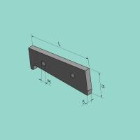 Flachstahl-Obermesser 175 x 62,3 x 13 mm für Maschinen mit Blechkanal