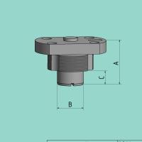 Schnellwechsel-Stempelhalter (B=37 mm / A=100 mm)