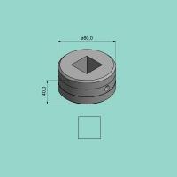 Vierkantmatrize Nr. 80