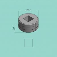 Vierkantmatrize Nr. 8