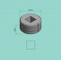 Vierkantmatrize Nr. 11 (für Sonder-Stanzvorrichtung)