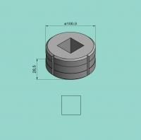 Vierkantmatrize Nr. 12 (für Sonder-Stanzvorrichtung)