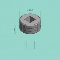 Vierkantmatrize Nr. 13 (für Sonder-Stanzvorrichtung)