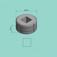 Vierkantmatrize Nr. 4