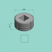 Vierkantmatrize Nr. 6